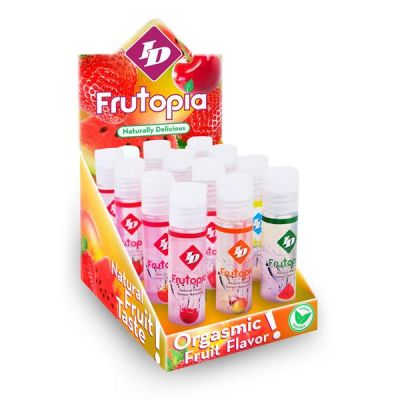 Full Display of ID Frutopia 1 fl oz Pocket Bottle Display (with 12 Assorted 1 fl oz bottles)