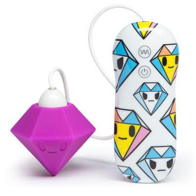 Tokidoki 10 Function Silicone Clitoral Vibrator Solitaire Purple Dimond