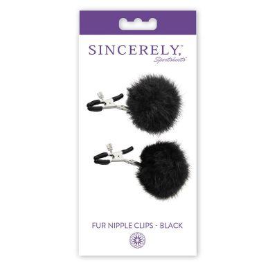 Sincerely Fur Nipple Clips - Black