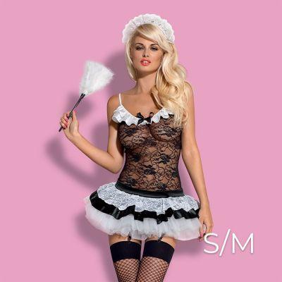 Obsessive - Housemaid 5 pcs costume  S/M - Black