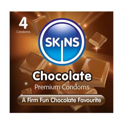 Skins Condoms Chocolate 4 Pack